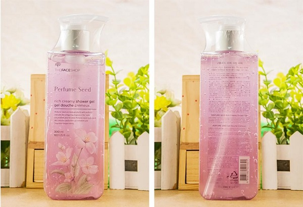 [Best seller] Gel tắm sáng da, ẩm mịn Perfume Seed Rich Creamy Shower Gel The Face Shop (300ml)