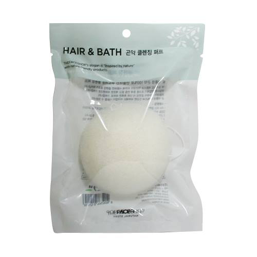 Bọt rửa mặt than hoạt tính Charcoal & Konjac Cleansing Puff The Face Shop