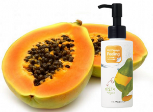 Gel tẩy da chết đu đủ SMART PEELING Mild Papaya The Face Shop (150ml)