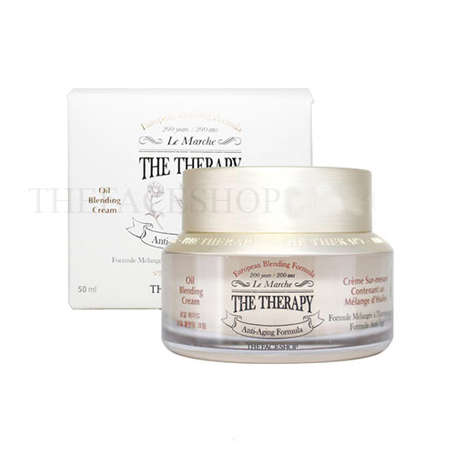 Kem dưỡng ngăn ngừa lão hóa The Therapy Oil Blending Cream The Face Shop (50ml)