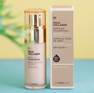 Kem lót Gold Collagen Ampoule MakeUp Base SPF30 PA++ 01 Pink (40ml)