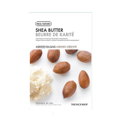 Mặt nạ Bơ hạt mỡ Real Nature Shea Butter Face Mask The Face Shop