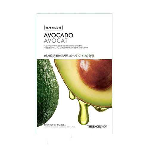 Mặt nạ Bơ phục hồi độ ẩm Real Nature Avocado Face Mask The Face Shop