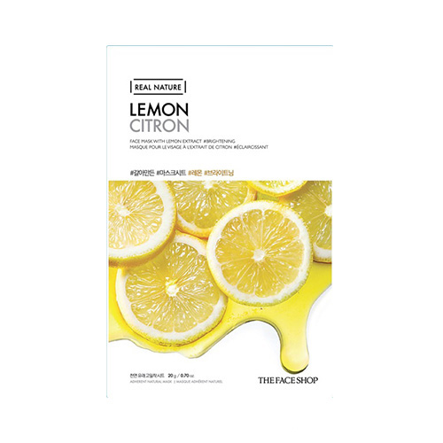 Mặt nạ Chanh Real Nature Lemon The Face Shop (Mới)