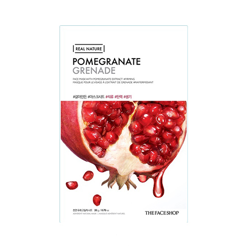 Mặt nạ lựu Real Nature Mask Pomegranate The Face Shop (Mới)
