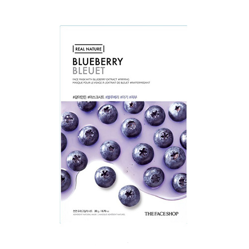 Mặt nạ việt quất Real Nature Mask Blueberry TheFaceShop (Mới)
