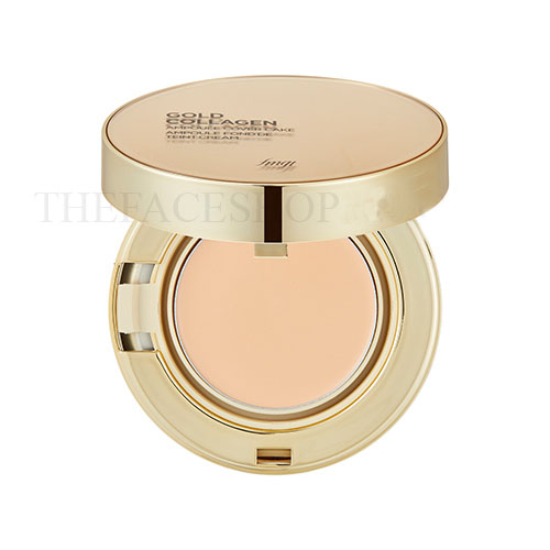Phấn nền siêu mịn Gold Collagen Ampoule Cover Cake SPF50+ PA+++ fmgt The Face Shop
