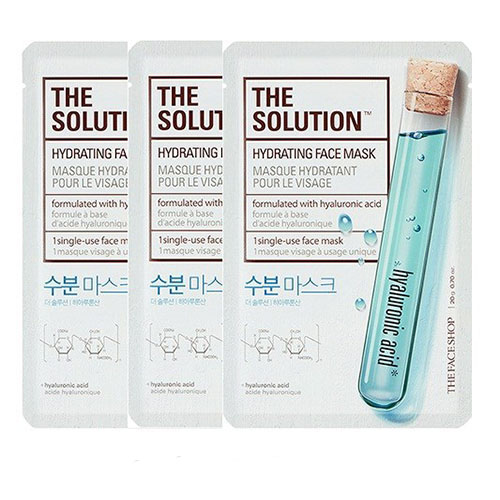 Set 3 miếng Mặt nạ cung cấp ẩm The Solution Hydrating Face Mask The Face Shop
