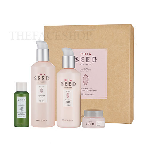 Set dưỡng ẩm sáng da Chia Seed Advanced Skincare Set The Face Shop (4 SP)
