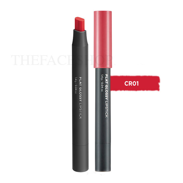 Son đa năng Flat Glossy Lipstick CR01 Gemstone Coral The Face Shop