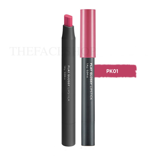 Son đa năng Flat Glossy Lipstick PK01 Lily Pink The Face Shop