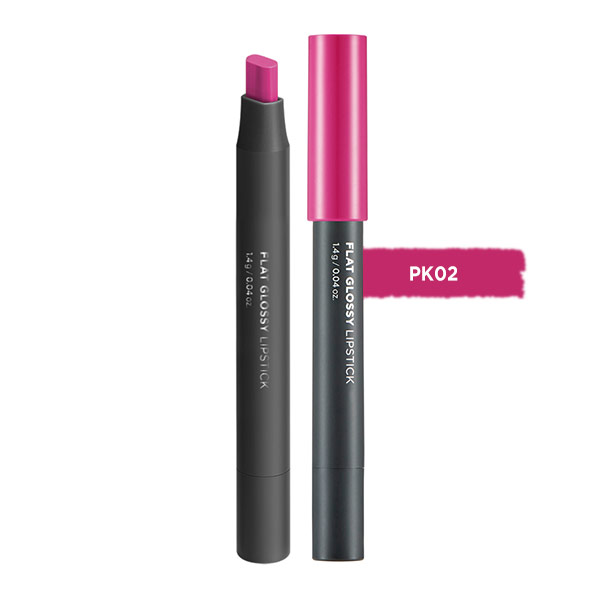 Son đa năng Flat Glossy Lipstick PK02 Rococo Pink The Face Shop