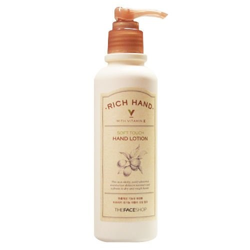 Sữa Dưỡng Da Tay Rich Hand V Soft Touch Hand Lotion The Face Shop