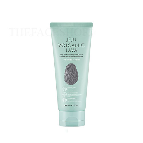 Sữa rửa mặt hạt mịn Jeju Volcanic Lava Deep Pore Cleansing Foam Scrub The Face Shop (140ml)